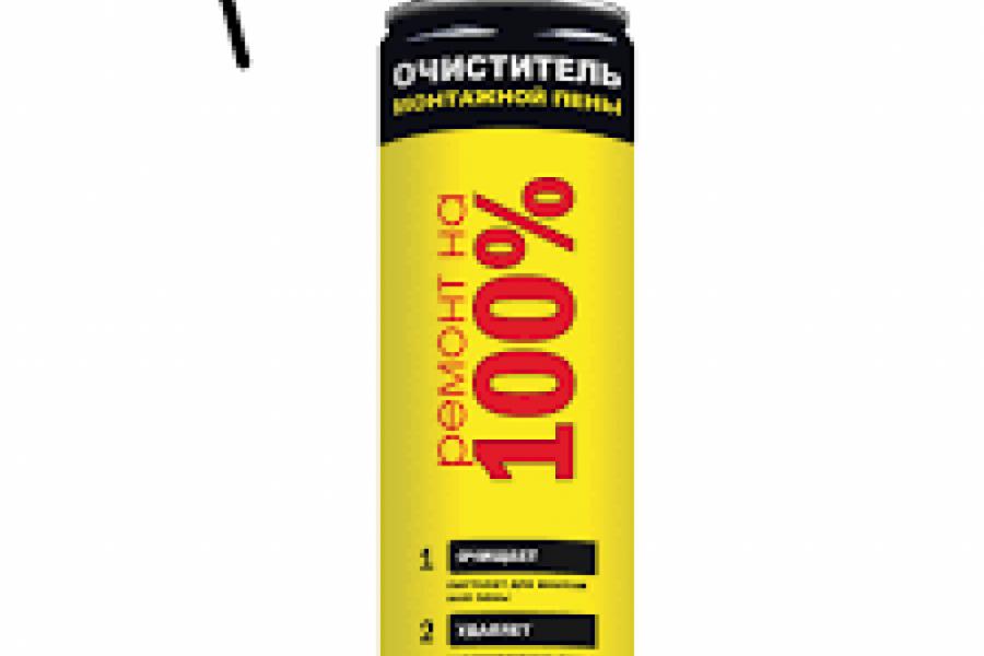 Очиститель монтажной пены Ремонт на 100 % 12* 500мл